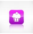 Cake web icon Application button vector image vector image