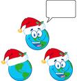 Cartoon globe design vector image vector image