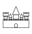 castle black color icon vector image vector image