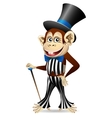 Cheerful monkey in dandy clothes vector image vector image