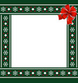 christmas or new year green border with vector image vector image