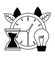 clock time work vector image vector image