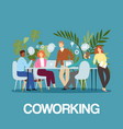 coworking business people concept idea meeting and vector image vector image