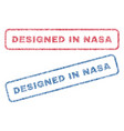 designed in nasa textile stamps vector image vector image