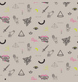 Doodle hipster flash tattoo style seamless beige
