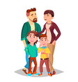family mom dad children together in vector image vector image
