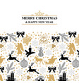 greeting card with christmas symbols vector image