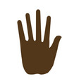 hand man human silhouette image vector image vector image