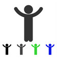 hands up child flat icon vector image vector image