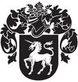 heraldic silhouette No37 vector image vector image