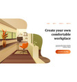 interior apartment concept banner for a home page vector image vector image
