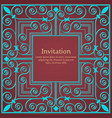 invitation or wedding card with floral background vector image vector image