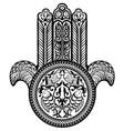 Jewish hamsa sacred amulet vector image