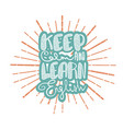 keep calm and learn english vector image vector image