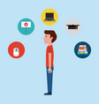 learning online education vector image vector image