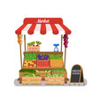 local vegetable stall vector image vector image