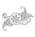 Mendie floral tattoo design isolated vector image vector image