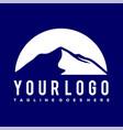 mountain silhouette logo vector image