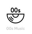 music 00s vinyl icon editable line vector image vector image