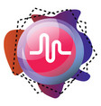musically app bubble and graphics different vector image vector image