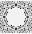 Ornamental frame border in indian mandala style vector image vector image