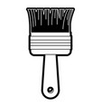 paint brush icon black silhouette vector image vector image