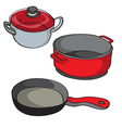 Pans isolated vector image