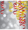 Party Streamers Background vector image vector image
