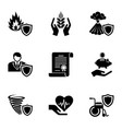 product warranty icons set simple style vector image vector image