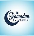 ramadan kareem moon lettering eid mubarak sign vector image