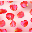 red rose petals realistic vector image