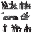 refugee icon set vector image vector image