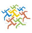 running racefitness runners expressive symbol vector image vector image