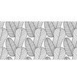 seamless pattern made monochrome feathers vector image vector image