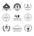 set bakery logos labels badges and design vector image vector image