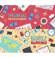 Set financial investment mobile banking vector image