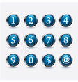 set of buttons with number vector image