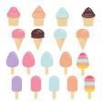 set of ice creams set of ice creams vector image vector image