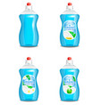 set of realistic dishwashing liquid product vector image vector image