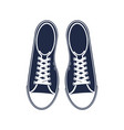 sporty sneakers isolated icon vector image