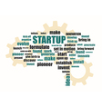 startup related words vector image vector image