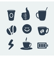 Symbols of coffee and energy vector image vector image