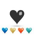 The hash love icon hashtag heart symbol icon