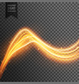 transparent light effect with golden fire wave vector image vector image