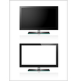 Two TV flat screen lcd vector image