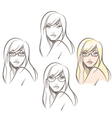 Woman Wearing Glasses vector image vector image