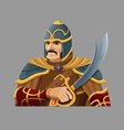 Cartoon warrior 2 vector image