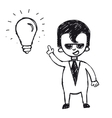 Businessman with ideas vector image