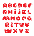 ABC - english alphabet - red funny spiral cartoon vector image vector image