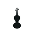 acoustic violin or fiddle vector image vector image